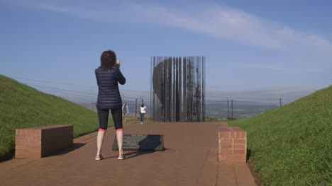 Taking-Photo-Of-Nelson-Mandela-Memorial