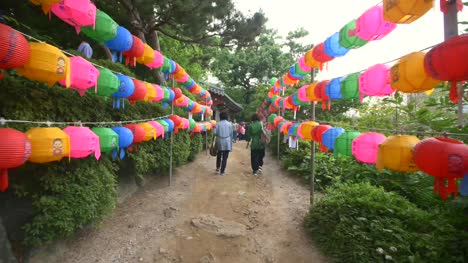 Pathway-With-Colourful-Paper-Lanterns