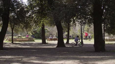 Child-Riding-A-Bike-At-Park-Villa-Borghese