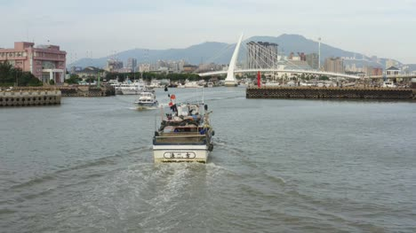 Following-Fishing-Boat-into-Port-in-Taiwan