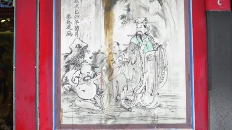 Illustrations-In-Lungshan-Temple-Taipei