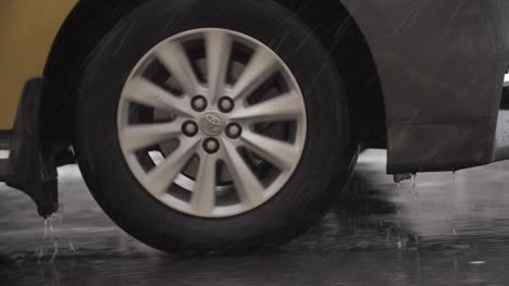 Car-Wheel-Driving-Through-Rain