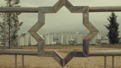 Ashgabat-Seen-Through-Railings