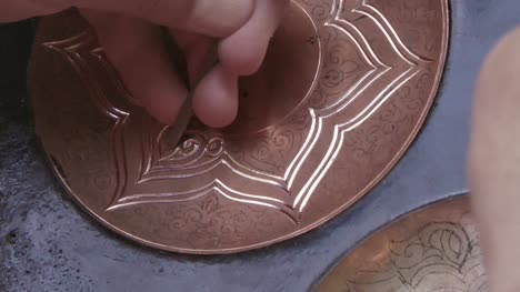 Engraving-Copper-with-a-Chisel