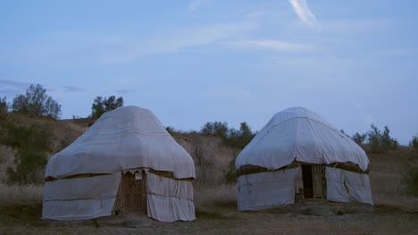 Two-Yurts-in-the-Desert