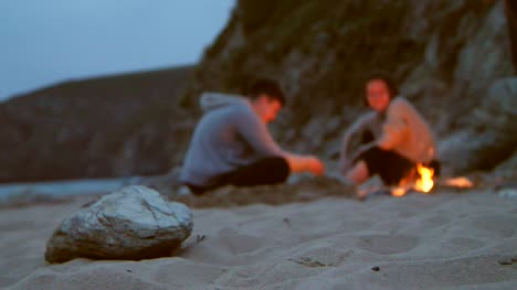 Sitting-Around-Beach-Fire-Pit