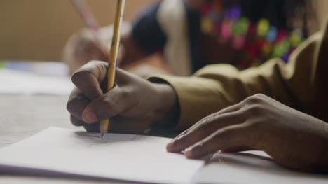 African-Schoolchildren-Writing-in-Class