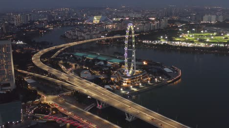 Singapore-Flyer-at-Night