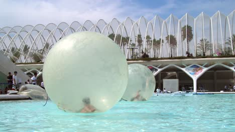 Children-Zorbing-in-Water