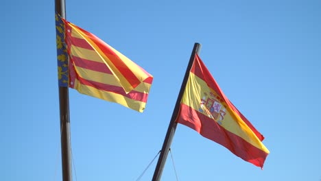 Valencian-and-Spanish-Flags
