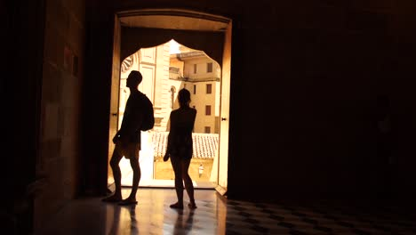 Silhouettes-in-Spanish-Doorway