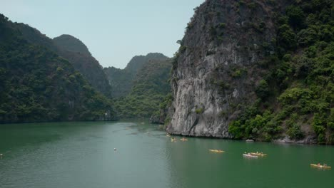 Kayakers-in-Ha-Long-Bay