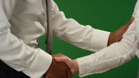 CU-Two-people-shaking-hands-on-green-screen