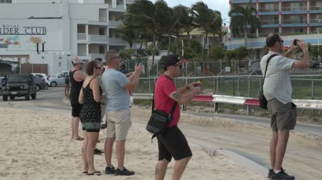 Tourists-on-Beach-Near-SXM-Airport