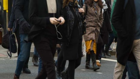 Low-Section-Of-Pedestrians-Crossing-A-Busy-London-Street-Daytime
