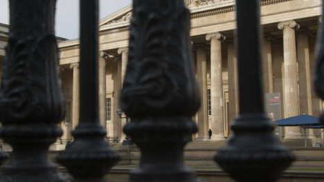 Pan-of-The-British-Museum-London-Through-Railings