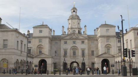 Wide-shot-ofEntrance-to-The-Horse-Guards-Parade-Whitehall-Central-London-