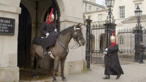 Guard-Marching-and-Checking-on-Horse-Guard-on-Duty