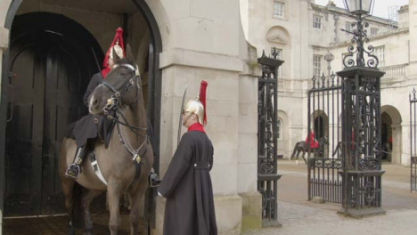 Guard-Checking-on-Horse-Guard-on-Duty