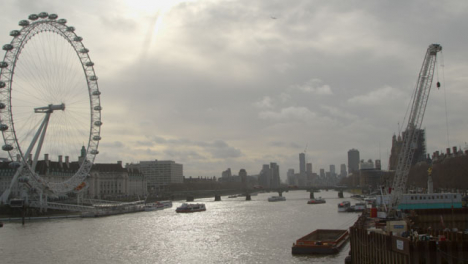 London-Cityscape-With-Millennium-Wheel-From-The-River-Thames