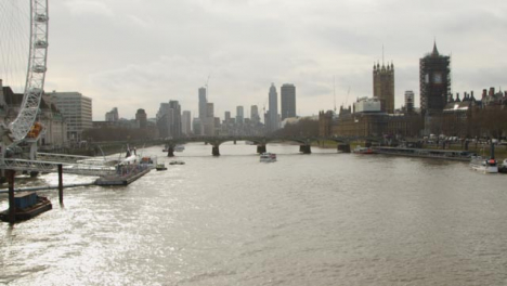 Pan-Of-London-Cityscape-From-The-River-Thames