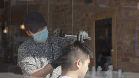 Barber-Cuts-Hair-Wearing-Face-Mask
