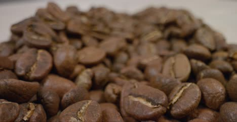 Close-Up-Tracking-Shot-of-Coffee-Beans