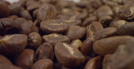 Close-Up-Tracking-Out-Shot-of-Coffee-Beans