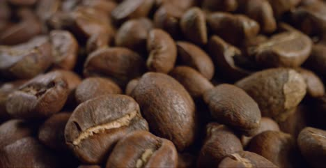 Close-Up-Coffee-Beans-Rotating-Past-Camera
