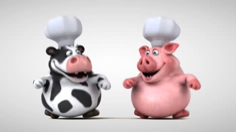 Cow-And-Pig-Chefs-Animation
