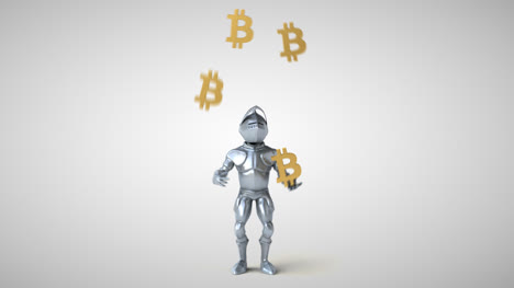 Fun-Knight-With-Bitcoins-Animation
