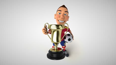 Fun-Soccer-Player-With-Trophy-Animation