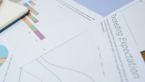 Close-Up-Business-Charts-and-Analysis-on-Desk