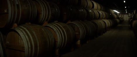 Stacked-Whisky-Casks-in-Warehouse