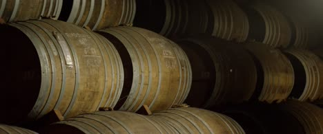 Stacked-Whisky-Barrels-in-Soft-Light