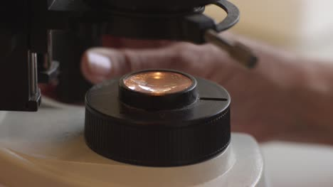 Light-Element-of-Microscope-During-Operation