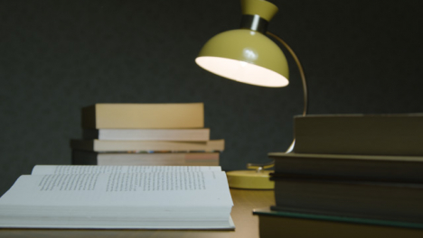 Pull-Focus-Book-on-Table-at-Night
