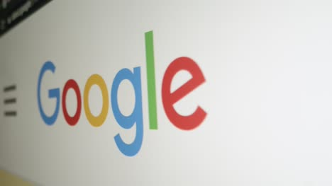 Pan-of-Google-Logo-on-Screen