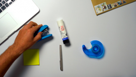 Flat-Lay-Stationary-On-Desktop