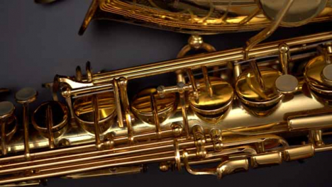 Flat-Lay-Panning-Close-Up-Saxophone-Keys