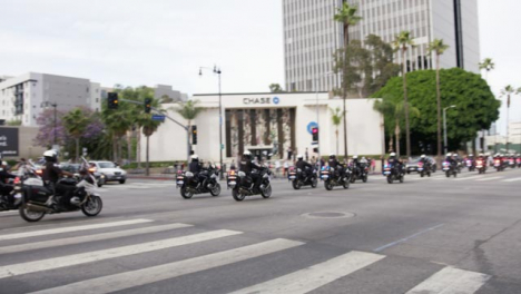 Hollywood-Police-Motorbike-Convoy-During-Protests
