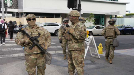Hollywood-Military-Soldiers-Standing-During-Protests