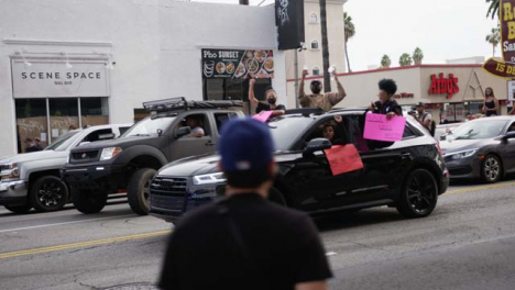 Hollywood-Group-of-People-in-Car-Protesting