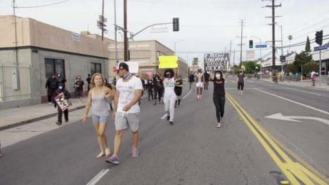 Hollywood-Social-Distance-Protesters-Marching-on-Street