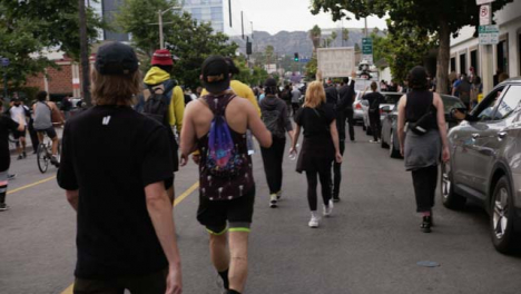Hollywood-Following-Protesters-Marching-on-Street