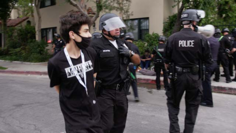 Hollywood-Busy-Police-Scene-With-Arrests-After-Protest