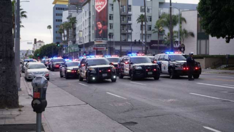 Hollywood-Static-Police-Cars-Blocking-Road