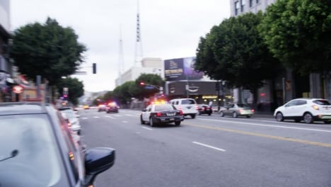 Hollywood-Quick-Pan-US-Police-Car-Driving-Past