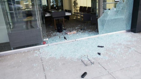 Hollywood-Smashed-Window-of-Looted-Building