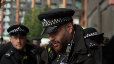 London-Police-Officers-Line-Up-During-BLM-Protests